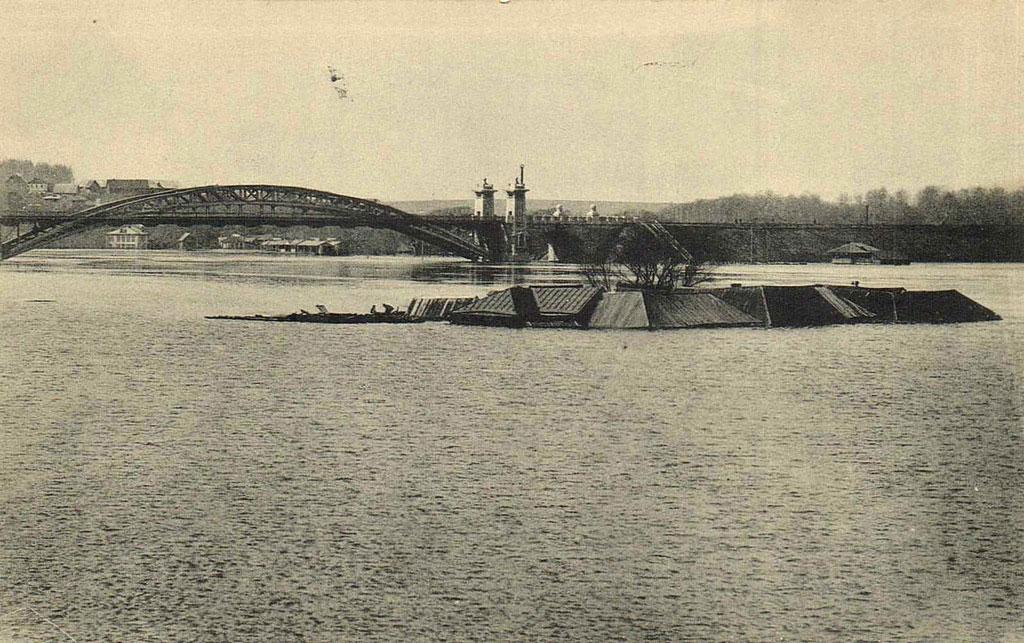 Наводнение 11 апреля 1908 г. в Москве Новодевичьий монастырь