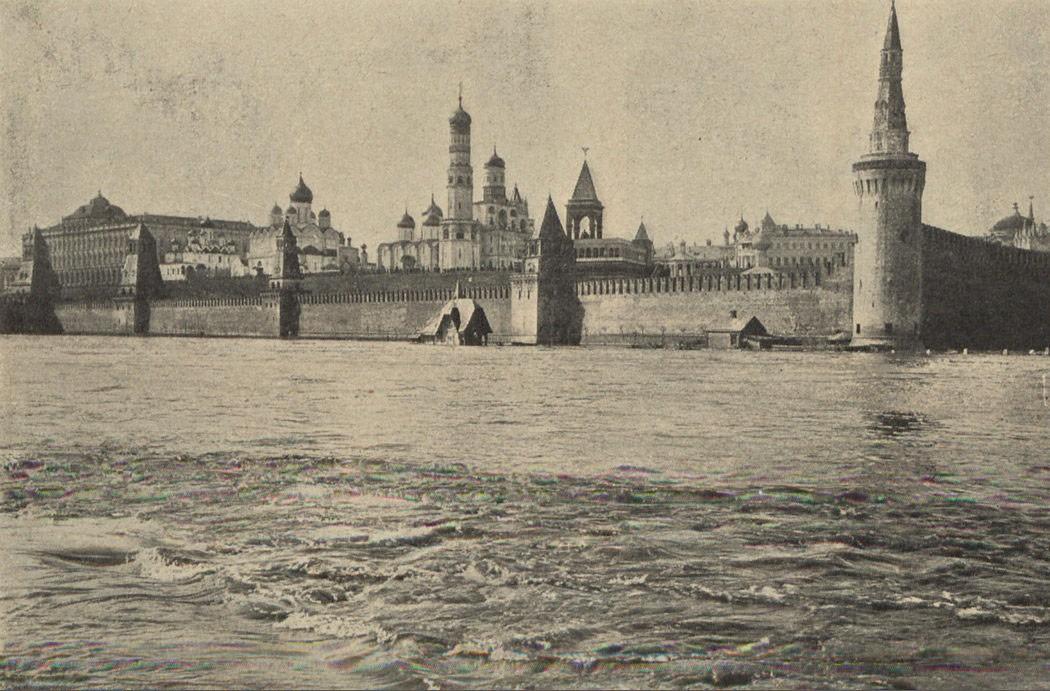 Наводнение 11 апреля 1908 г. в Москве Кремль