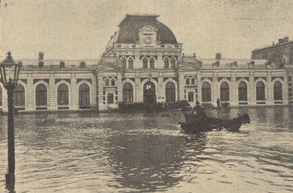 Наводнение 11 апреля 1908 г. в Москве Павелецкий вокзал