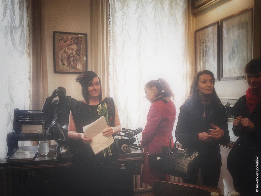 Гости на открытии выставки иллюстраций театр-музей «Булгаковский дом»