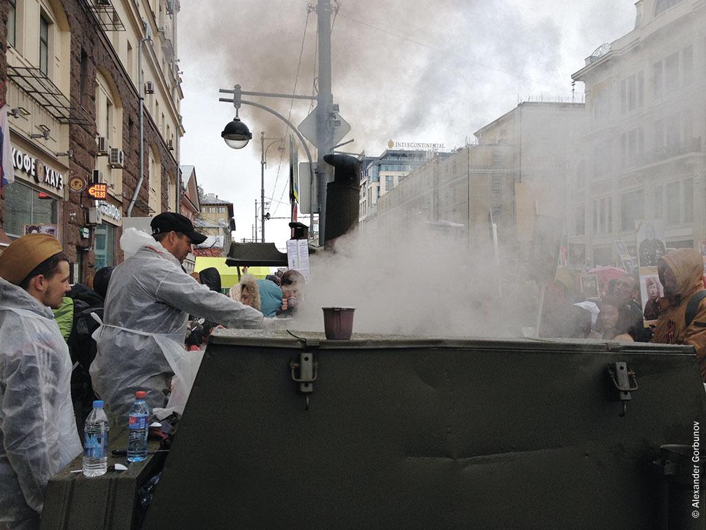 Полевая кухня на Тверской Бессмертный полк