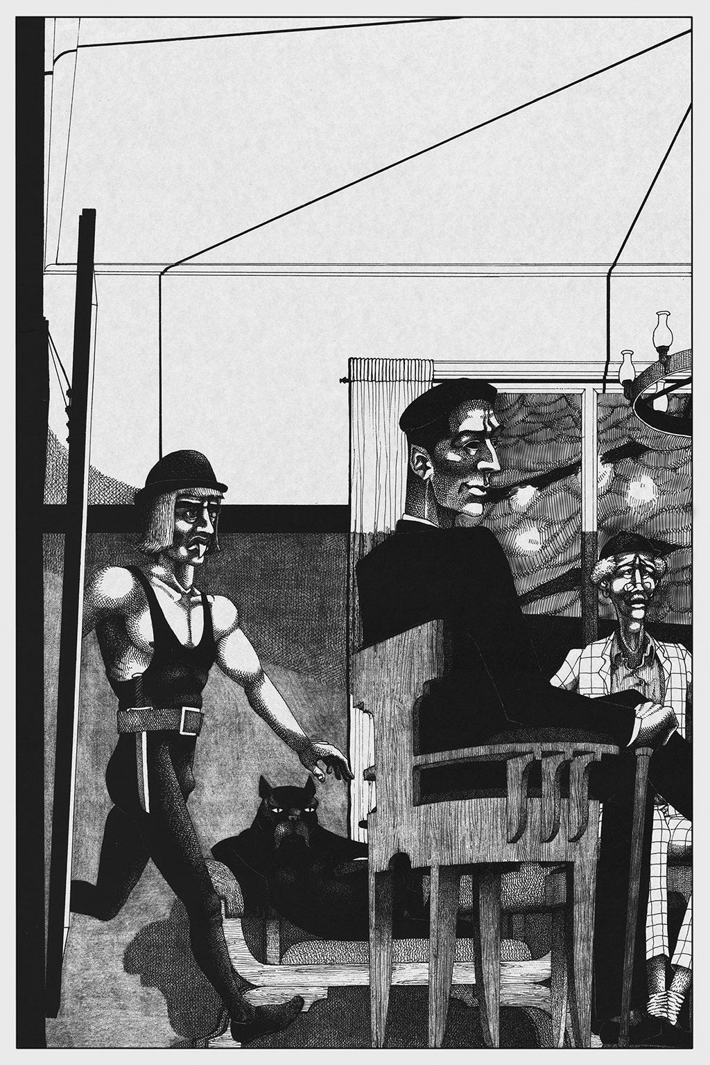 Иллюстрация Мастер и Маргарита Чарли Стоун 5