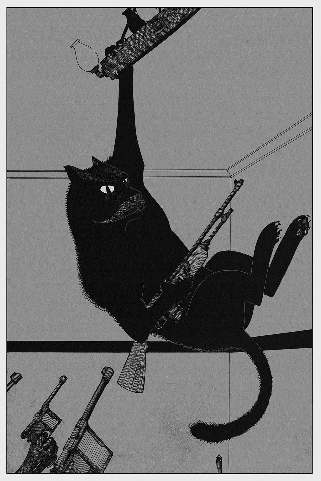 Иллюстрация Мастер и Маргарита Чарли Стоун 14