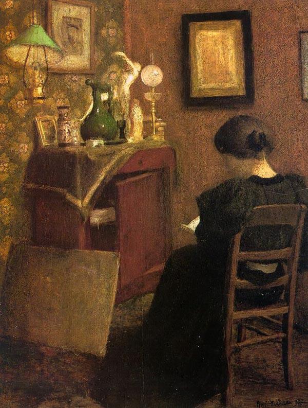 Анри Матисс «Читающая женщина» (1894)