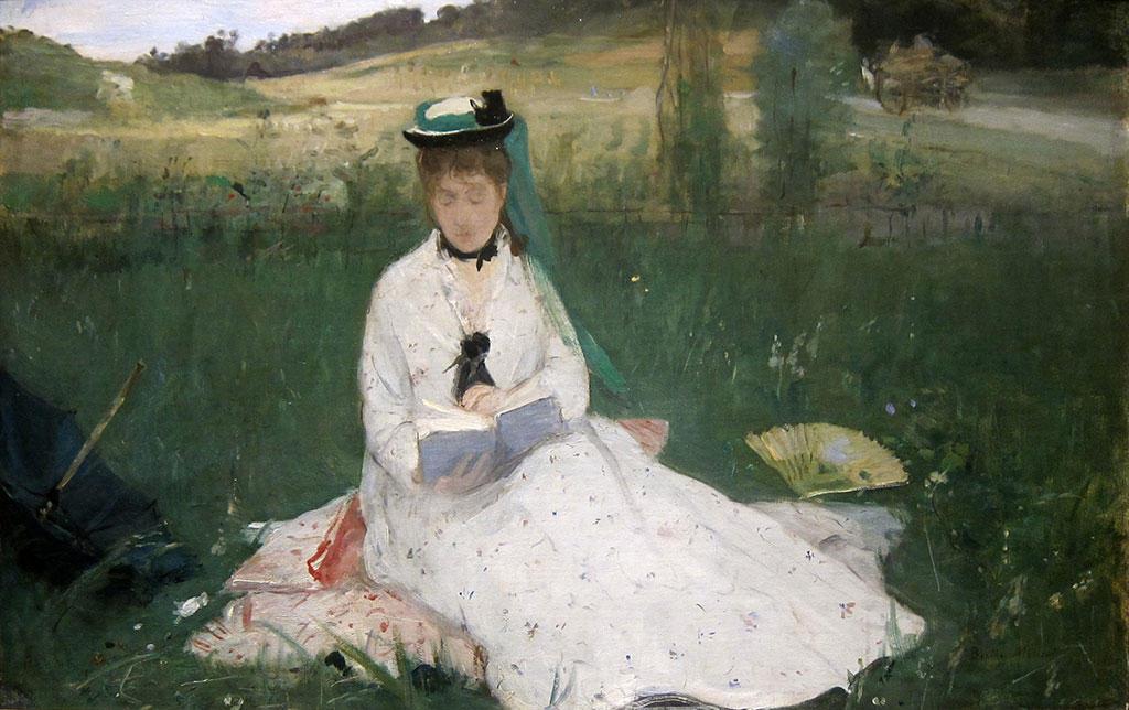 Берта Мориозо «Читающая с зеленым зонтиком» (1873)
