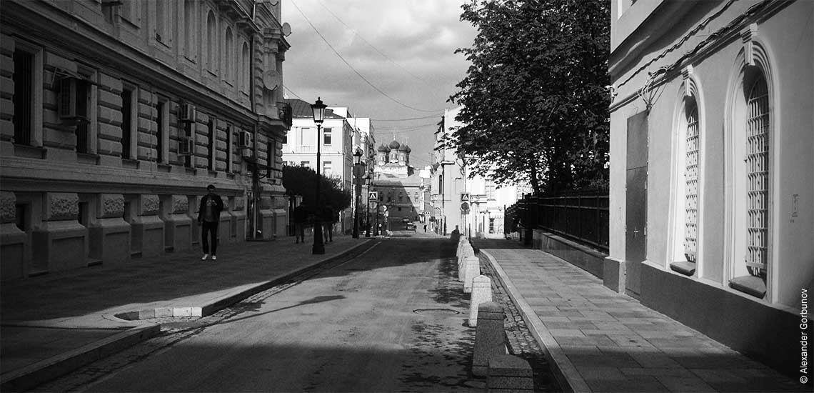 Пустые улицы Москвы