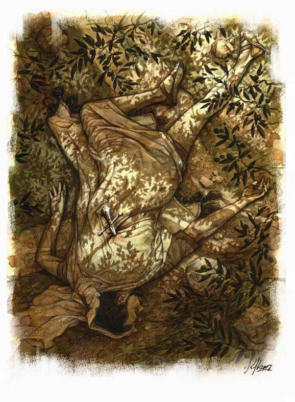 Погребение Иллюстрация Николая Королева