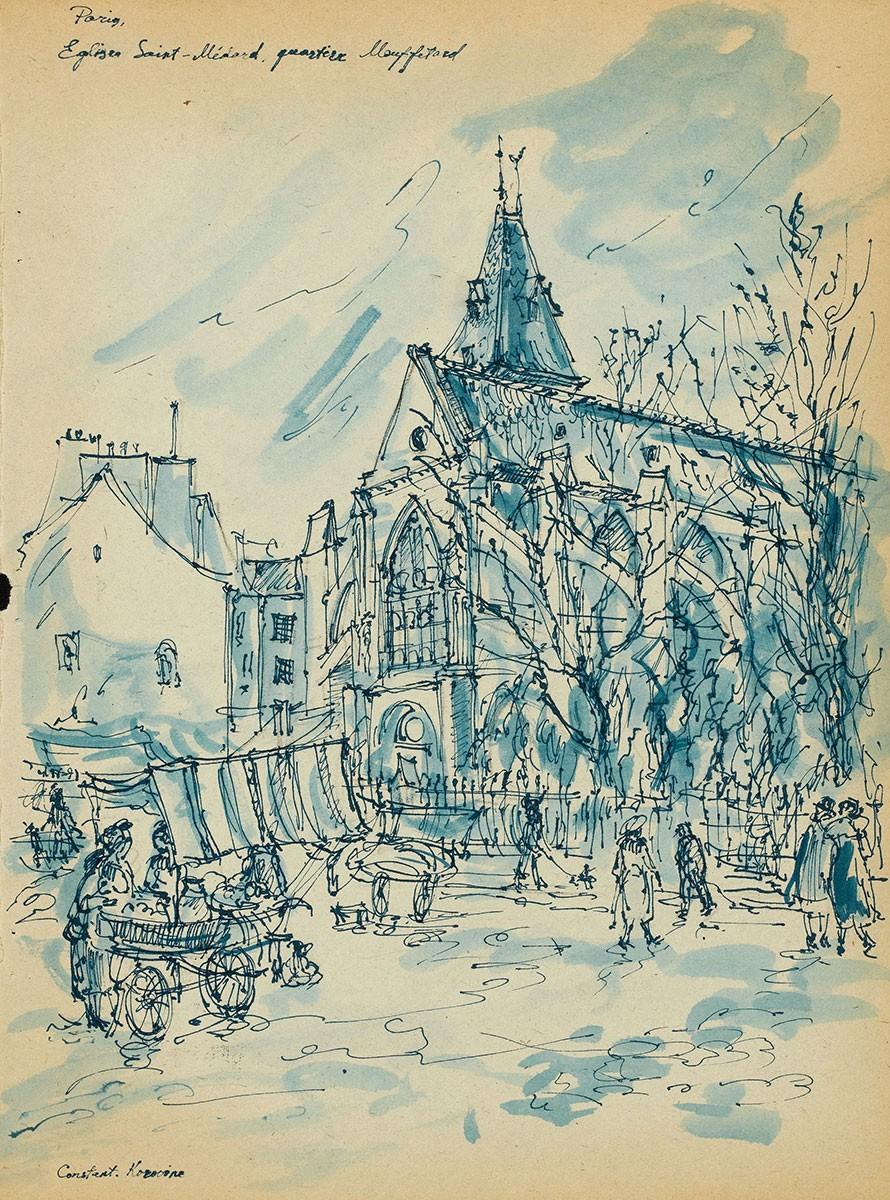 Коровин Eglise Saint Medard Quartier Mouffetard