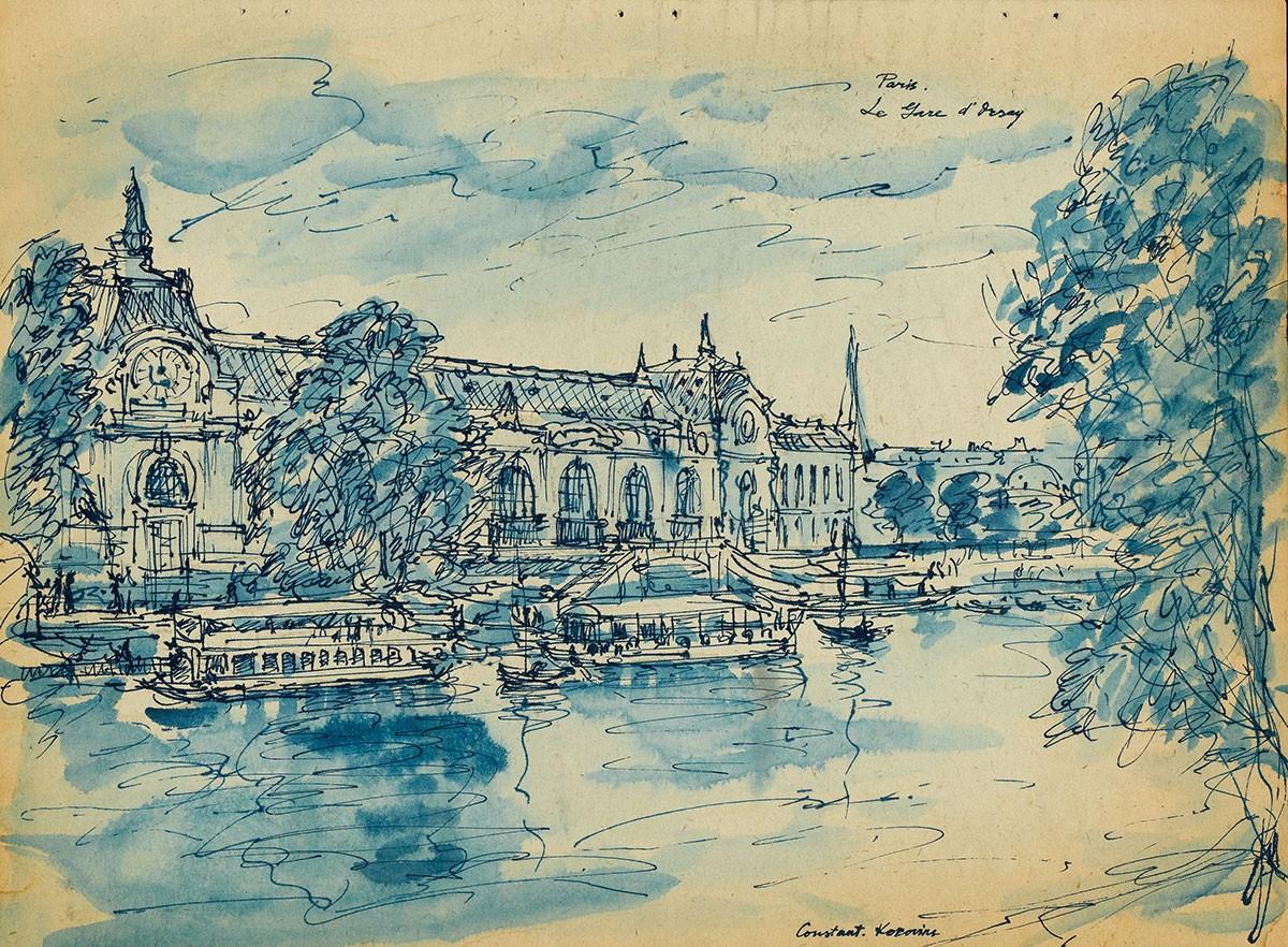 Парижские зарисовки Константин Коровин Gare d'Orsay