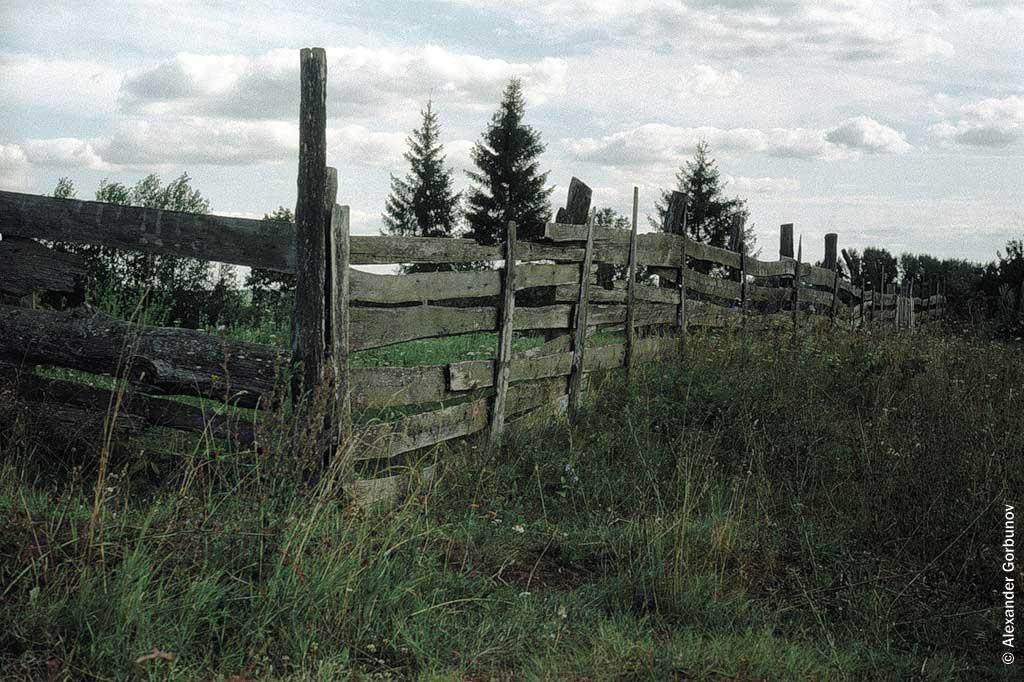 Деревянный забор Русская Сорма
