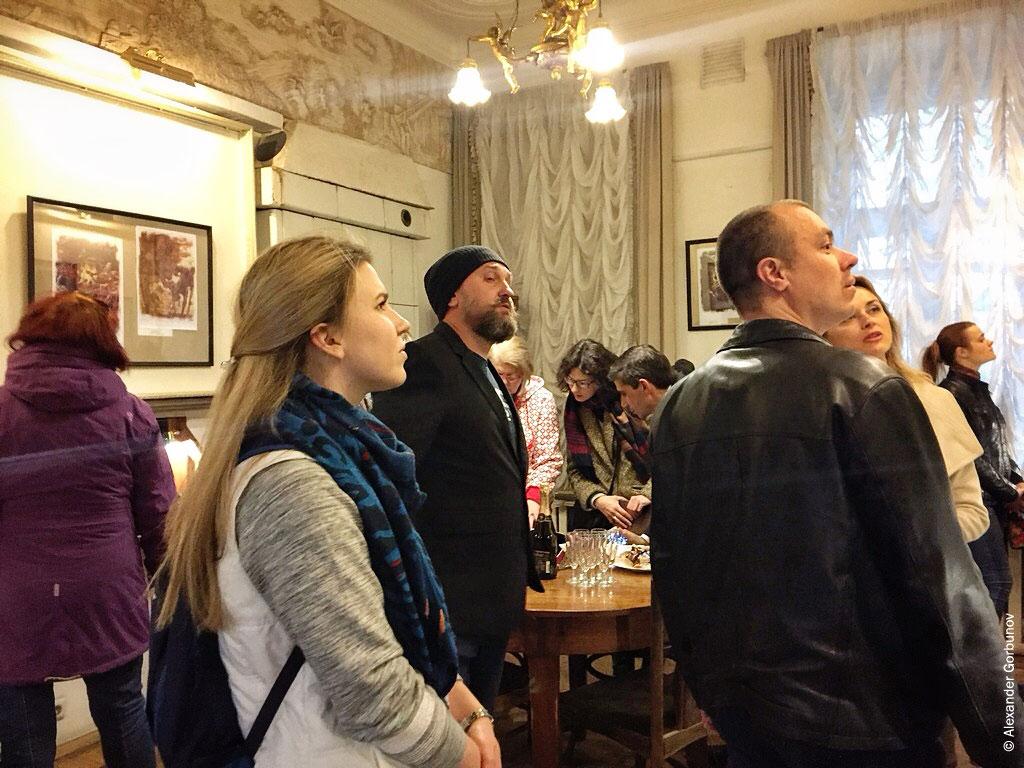 Публика на открытии выставки Николая Королёва